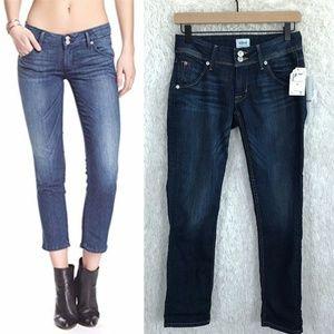 Cropped Skinny Jeans Dark Wash Collin Hudson